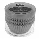 Baking Cups Disposable Large Silver