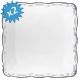 Tray Disposable Silver Large