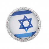 Magnet Metal with Glass Israel Flag