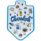 Chanukah Tableware Hard Plastic Serving Tray