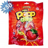 Mini Popping Candy Strawberry
