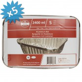 Baking Pan Aluminium 2400ml + Lids