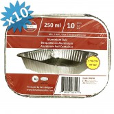 Baking Pan Aluminium 250ml + Lids
