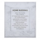 Wall Art Home Blessing Glass English