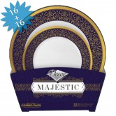 Plates Set Disposable Majestic Cobalt