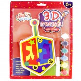 Chanukah Craft Dreidel 3D Paint & Create