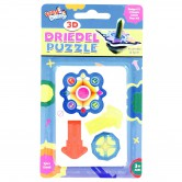 Chanukah Craft Dreidel Puzzle 3D