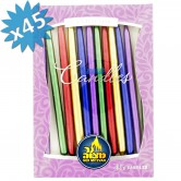 Candle Chanukah Assorted Metallic