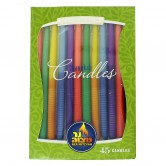 Candle Chanukah Premium Striped Assorted