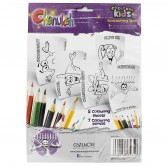 Chanukah Craft Coloring Sheets and Pencils