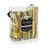 Cutlery Disposable Baroque Gold