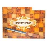 Challah Board Wood Squares + Knife