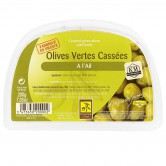 Olives Green Cracked With Garlic