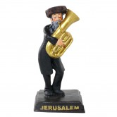 Figurine Glass Tuba Player