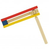 Grogger (Purim Noisemaker) Colorful wood 12cm