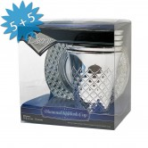 Cups Kiddush Disposable Silver Diamond + Trays