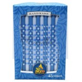 Candle Chanukah Premium Blue & White Stars