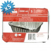 Baking Pan Aluminium 2000ml + lids