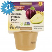 Baby Food Oatmeal, Plum & Pear
