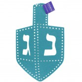 Chanukah Tableware Placemat Dreidel Felt Teal