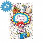 Purim Card Greeting