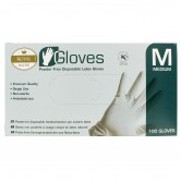 Gloves Latex Disposable Medium