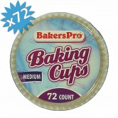 baking cups white - medium