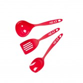 Cooking Utensil Set Melamine Red