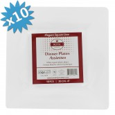 Plates Dessert Disposable Square