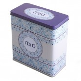 Box Matzo Tin Square Blue