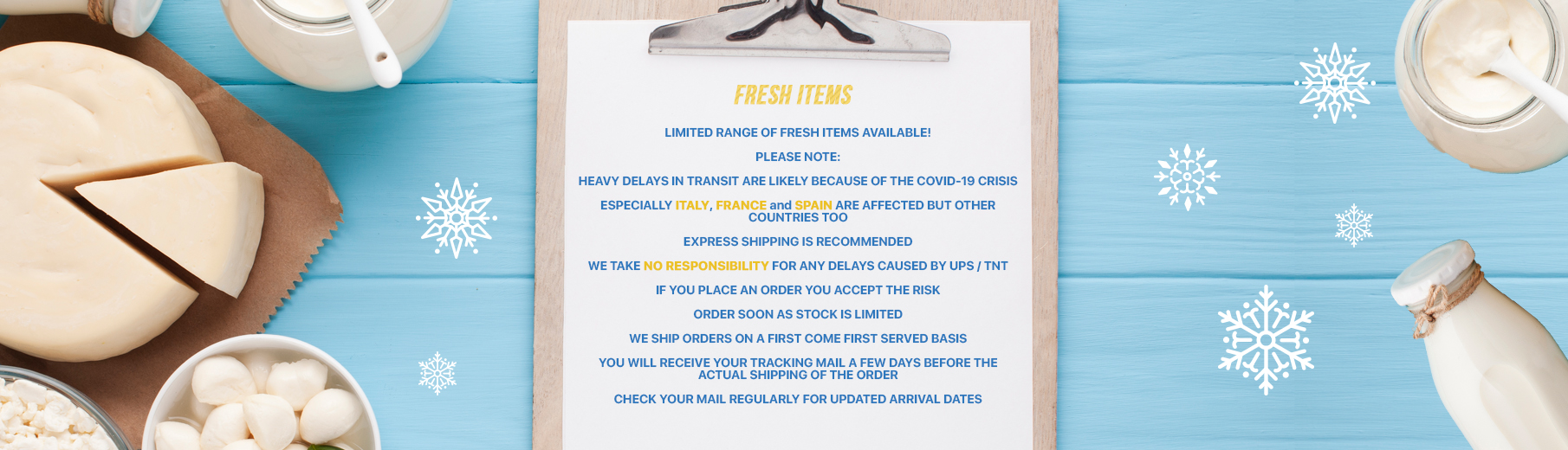Limited Fresh Items
